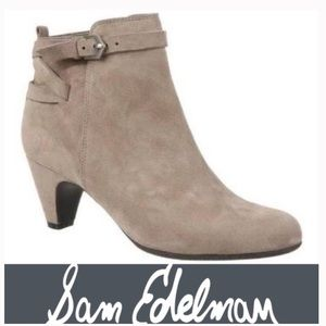 Sam Edelman Maddox leather suede ankle booties